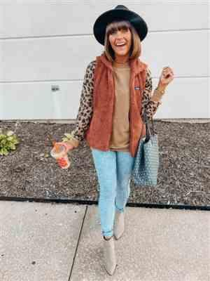 Brooke verified customer review of Leopard Print Raglan Sleeve Casual Sweatshirt