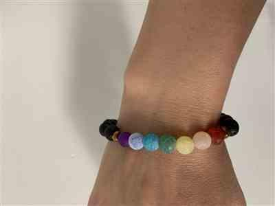 Yanira P. verified customer review of Colorful Agate Diffuser Bracelet