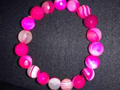 Veronica T. verified customer review of Pink Agate Bead Bracelet