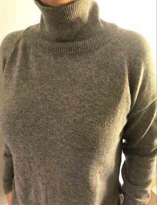 M K verified customer review of Cashmere Casual Turtleneck Pullover