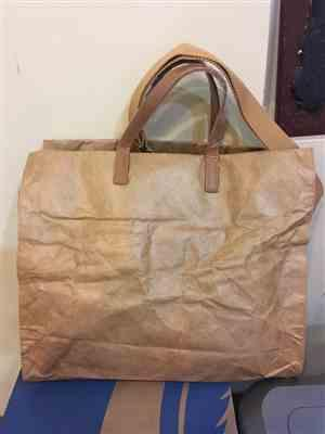 K***a verified customer review of Kraft Paper & Leather Totes
