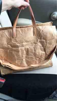 E***a verified customer review of Kraft Paper & Leather Totes