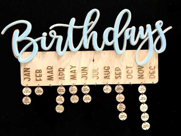 Carlie Rees Custom Designs Family Birthday Hanger 500mm wide Review