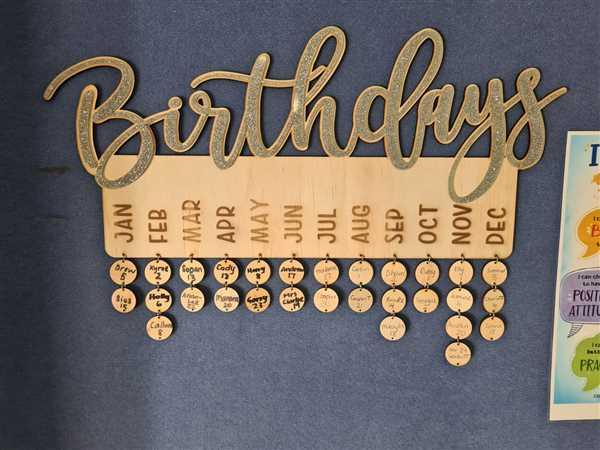 Carlie Rees Custom Designs Wooden Birthday Hanger Discs Review
