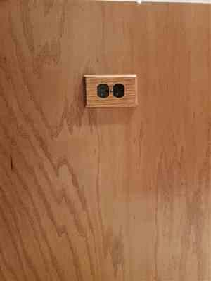 Herman Rinkel verified customer review of Contemporary Unfinished Ash Wood - 1 Duplex Wallplate