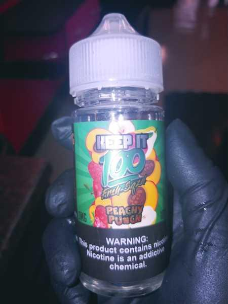 Vape Society Supply Peachy Punch by Keep It 100 E Liquid Review