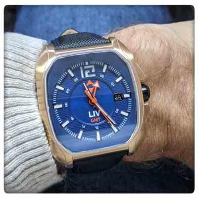 Mordechai Blum verified customer review of LIV Rebel GMT Cobalt & Rose Gold