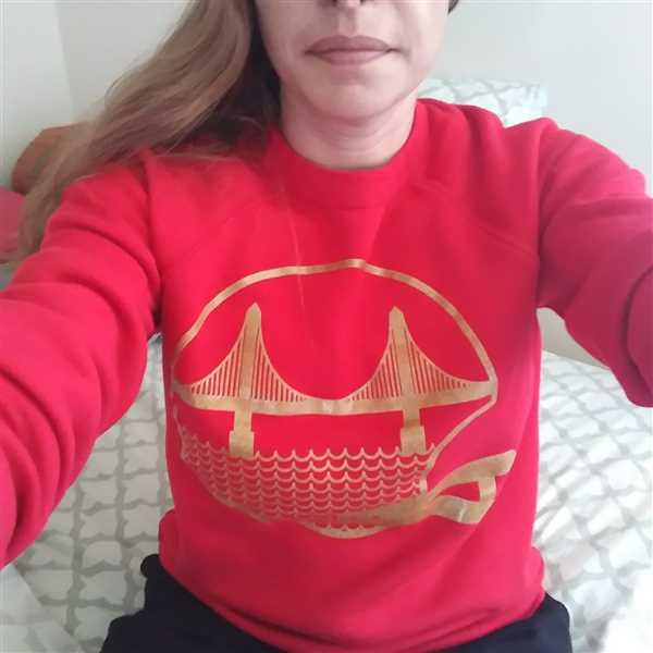 Culk SF Football Unisex Crewneck Sweatshirt Red Review