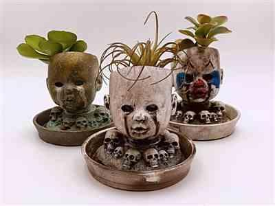 Courtney Bagnaschi verified customer review of Baby Doll Head Planter with matching Saucer