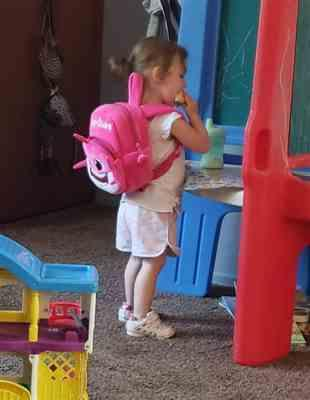 Michelle S verified customer review of Baby Shark Backpack