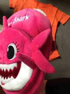 Chelsea M. verified customer review of Baby Shark Backpack