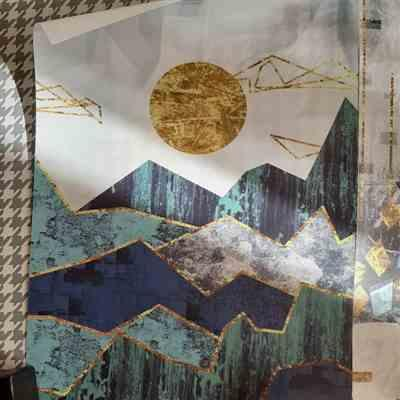 Lela verified customer review of Abstract Mountain Canvas