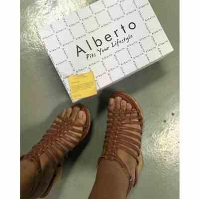 Diwa E.  verified customer review of Alberto Strappy Wedge Sandals