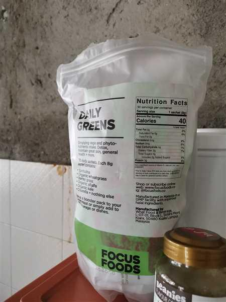 Focus Foods Daily Greens - 1-month pack Review