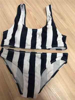 Pavacat Breezy Navy Blue Stripe Bikini Set Review