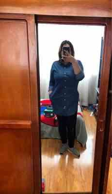 Pavacat Elegant Cowboy Navy Shirt Dress Review