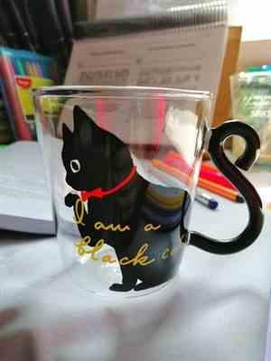 M***s verified customer review of Cute Cat Glass Mug