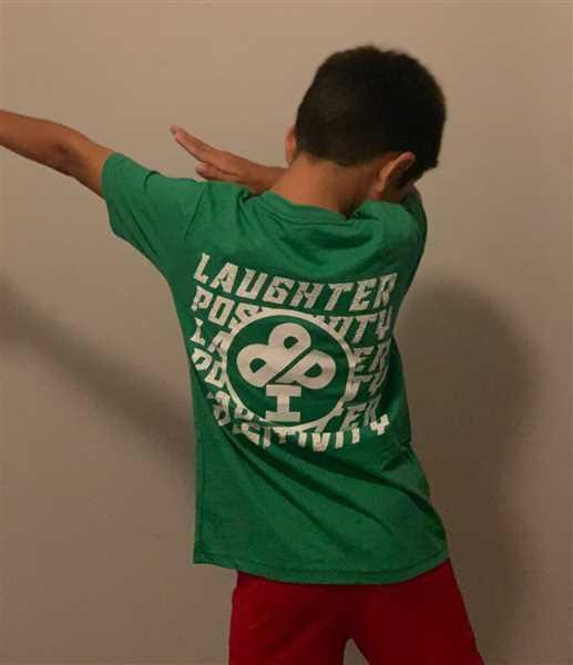 Jodi Torio verified customer review of Laughter and Positivity T-Shirt in Blue, Green or Red