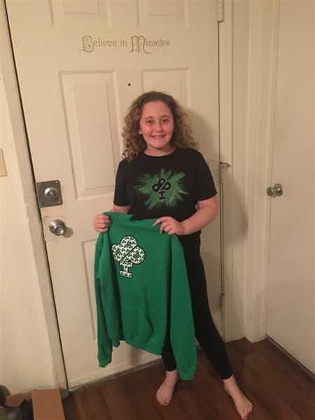 Mary Mason verified customer review of St Patrick's CLOVERFLAGE   Cotton Hoodie  Youth and Adult