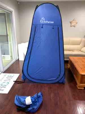 Kayla verified customer review of Wolfwise Privacy Tent