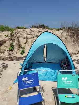 Diana S verified customer review of Wolfwise Instant Pop-up Beach Tent