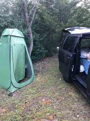 Danielle Rivera verified customer review of Wolfwise Easy Popup Shower tent
