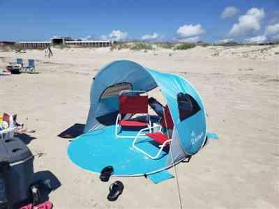 Sarah verified customer review of Wolfwise Easy Pop Up Beach Tent
