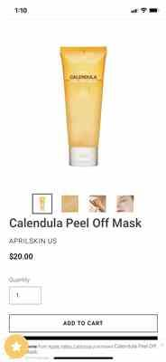 Stacy verified customer review of Calendula Peel Off Mask