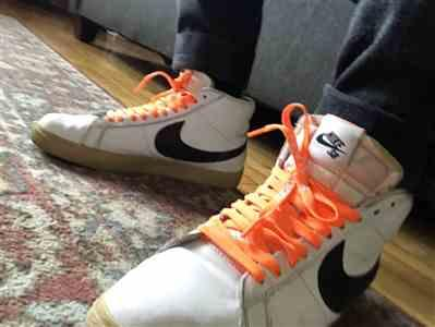Saul Mejia verified customer review of Neon Orange Off-White Style SHOELACES