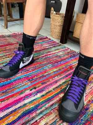 Aaron M. verified customer review of Purple Off-White Style SHOELACES