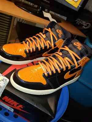 James Desroches verified customer review of Orange Luxury Leather Laces - Gold Plated