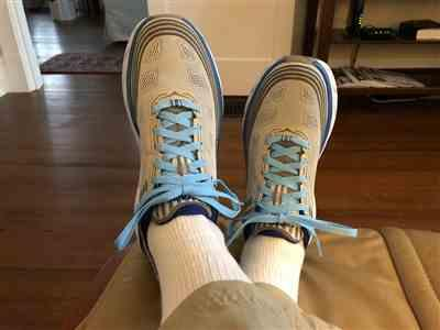 James Harllee verified customer review of Carolina Blue Shoe Laces