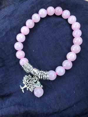 S***a verified customer review of Bracelet Arbre de vie en Quartz rose