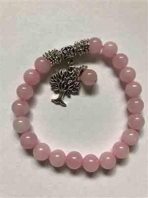 Marilou verified customer review of Bracelet Arbre de vie en Quartz rose