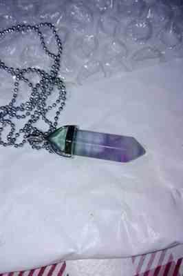 Claire verified customer review of Collier Colonne en Fluorite