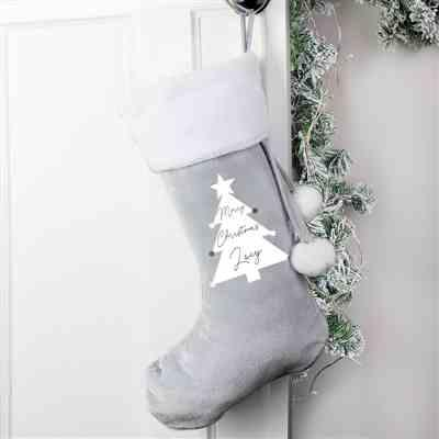 Caroline Hayes verified customer review of Personalised Christmas Tree Luxury Silver Grey Stocking
