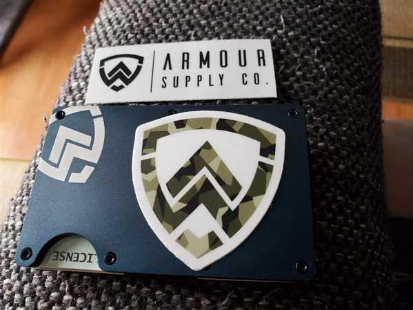 Armour Supply Co.  Armour Wallet | Navy Blue Review