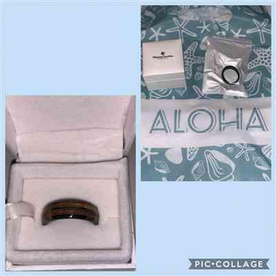 Sharde Duenas verified customer review of HI-TECH Black Ceramic Ring with Koa Wood Duo Inlay - 8mm, Dome Shape, Comfort Fitment