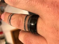 James K. verified customer review of Black Tungsten Carbide Brush Center Finish Ring - 8mm, Dome Shape, Comfort Fitment