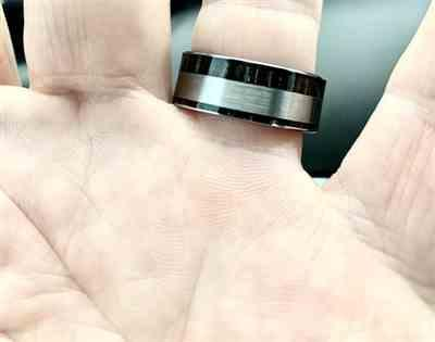 James Killingsworth verified customer review of Tungsten Carbide Ring with Ebony Gabon Wood Inlay