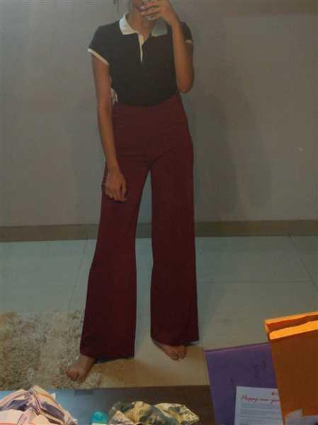 Madish Berry Wide Leg High Waist Trousers Review