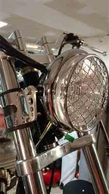 Richard M. verified customer review of 5-3/4 inch diameter Chrome Side Mount Halogen Headlight