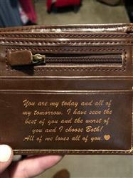 Alysia O. verified customer review of Personalized Wallet: Classic