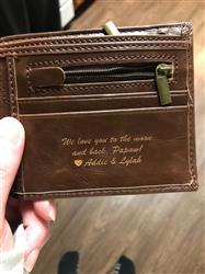 Shonna E. verified customer review of Personalized Wallet: Valentine