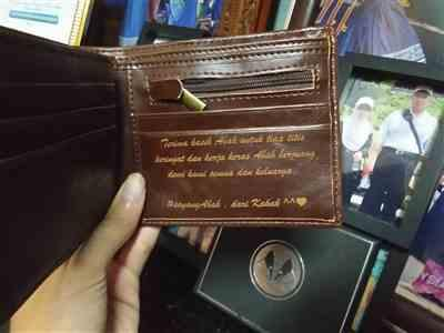 Dg Siti Khairunnisa Ismail verified customer review of Personalized Wallet: Classic