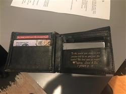 Tiffany F. verified customer review of Personalized Wallet: Classic