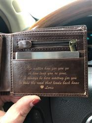 Lorie R. verified customer review of Personalized Wallet: Classic