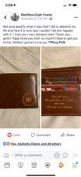Tiffany P. verified customer review of Personalized Wallet: Valentine