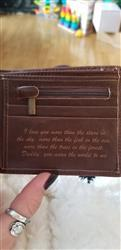 Liz L. verified customer review of Personalized Wallet: Valentine