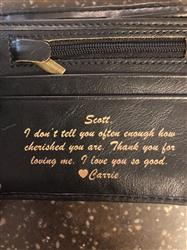 Carrie H. verified customer review of Personalized Wallet: Circle